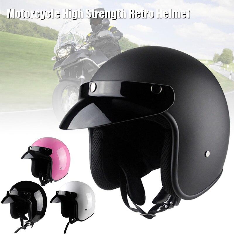 Nuevo casco para motocicleta, Vintage, ligero, transpirable, diseño de la cara abierta para hombres y mujeres, motocicleta