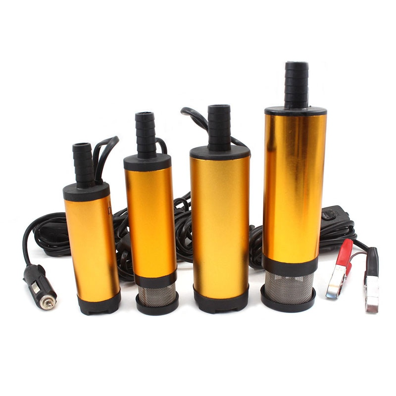 Электрический топливный насос для дизельного топлива, погружной мини-насос из алюминиевого сплава, 12 В, 24 В, всасывание 30 л/мин, для масла, ке...