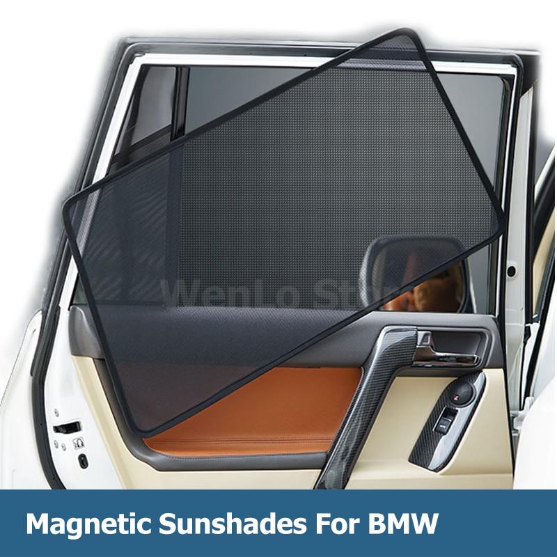4 Uds Coche magnético parasoles de ventana laterales para BMW serie 5 F18 G30 G38 F10 E60 parasol de coche cortina accesorios,