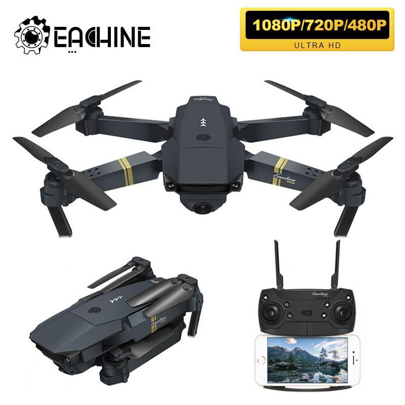 Eachine E58 WIFI FPV с широкоугольной камерой HD 1080P/720P/480P, режим удержания высоты, складной рычаг, Радиоуправляемый квадрокоптер, Дрон X Pro RTF