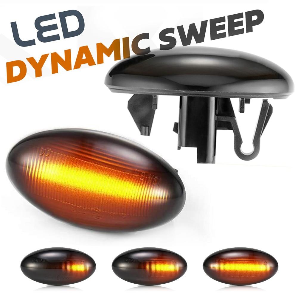 2 uds dinámica luz LED de posición lateral señal intermitente para Peugeot socio experto viajero 107, 1007, 108, 206, 207, 307, 407, 4007, 607