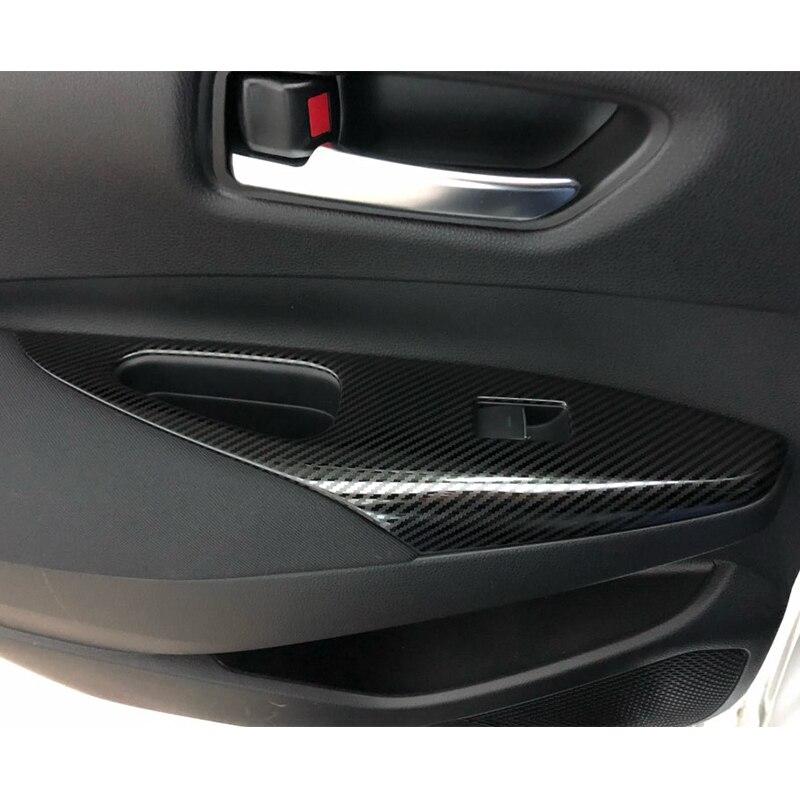 Para Toyota corolla E210 2019 2020 Acero inoxidable LHD puerta ventana vidrio elevador cubierta de panel de interruptor de control accesorios 1 Uds
