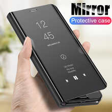 Smart Mirror Flip Case For Samsung Galaxy A71 A31 A51 A41 A21S M31 M21 S20 Ultra S10 Plus Note 10 Lite Clear View Leather Cover
