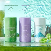 Solid Cleansing Mask Stick Green Tea Eggplant Purifying Clay Apply Mask Volcanic Mud Cream Oil Contr