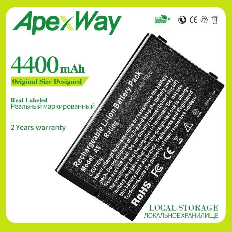 Аккумулятор Apexway для ноутбука ASUS A32-A8 70-NF51B1000 15G10N345800 A8TL751 A72DY A72JT A72JU A8 A8A A8Dc A8E A8H A8J A8S A8T A8Tc
