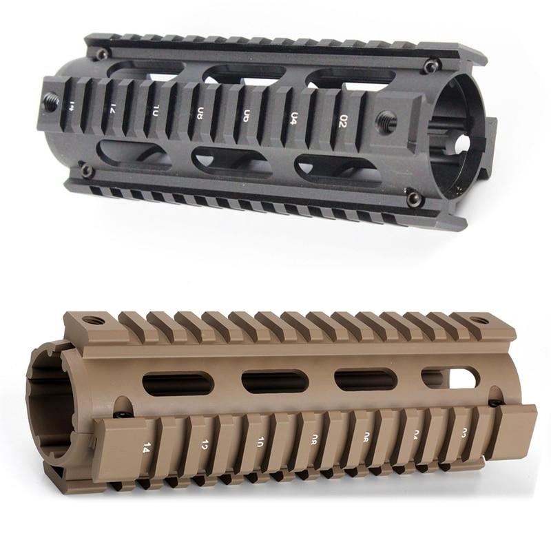 6.7 inch AR15 M4 Carbine Handguard Airsoft AR-15 RIS drop-in Quad Rail Mount Tactical Free Float Picatinny Handguard