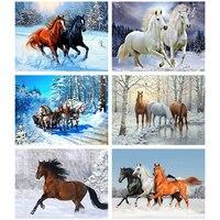 Evershine животные алмазная вышивка лошади вышивка крестиком стразами картина Алмазная мозаика зима украшения для дома