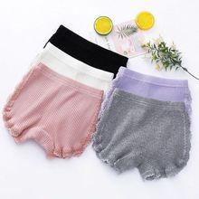 new Girl Safety Shorts Pants Baby Girls Panties Cotton Underwear Cute Underpants Lace Teenage Kids Panties Children Short Briefs
