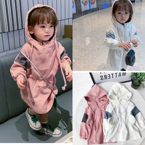 Spring girls hooded dress children's fashion casual dress children's dress  baby girl clothing