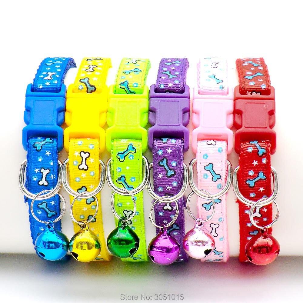 Conjunto de 24 unidades de Collar ajustable para perro y gato, pajarita con cascabel para mascota, Collar adorable para gatito, cachorro, perro pequeño, gato