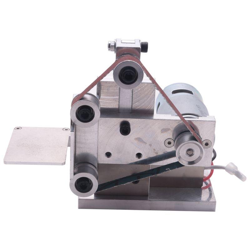 Eu Plug Diy Mini Belt Sander Bench Mount Grinder Polishing Grinding Machine Buffer Electric Angle Grinder 175X110x140mm