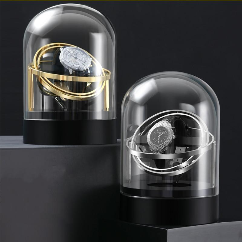 Automatic Watch Winder Box For Mechanical Watches Watch Shaker Brand Fashion Single Watch Box Rotator Luxury Transparent Glass
