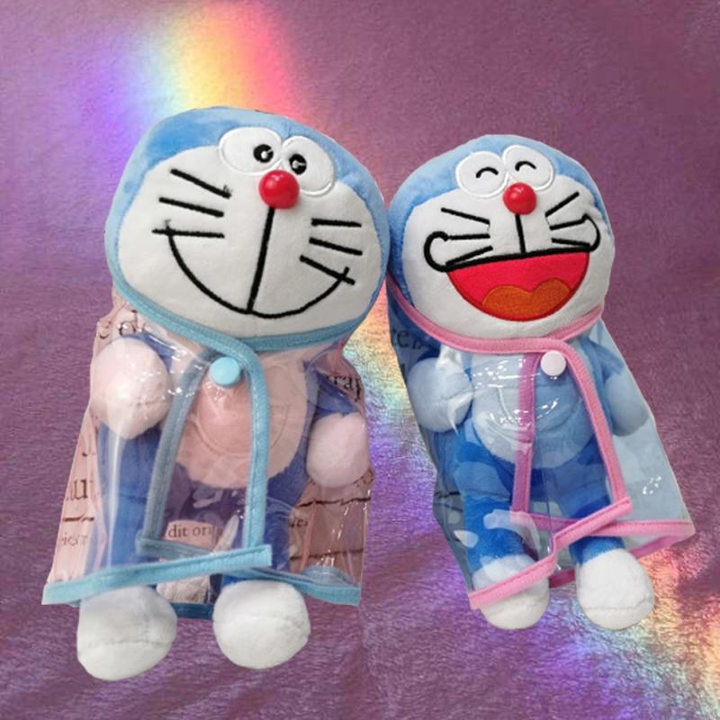 28cm animales de peluche de juguete de gato de Jingle japonés línea de Corea serie pato conejo oso ropa impermeable vestido de Halloween regalo de
