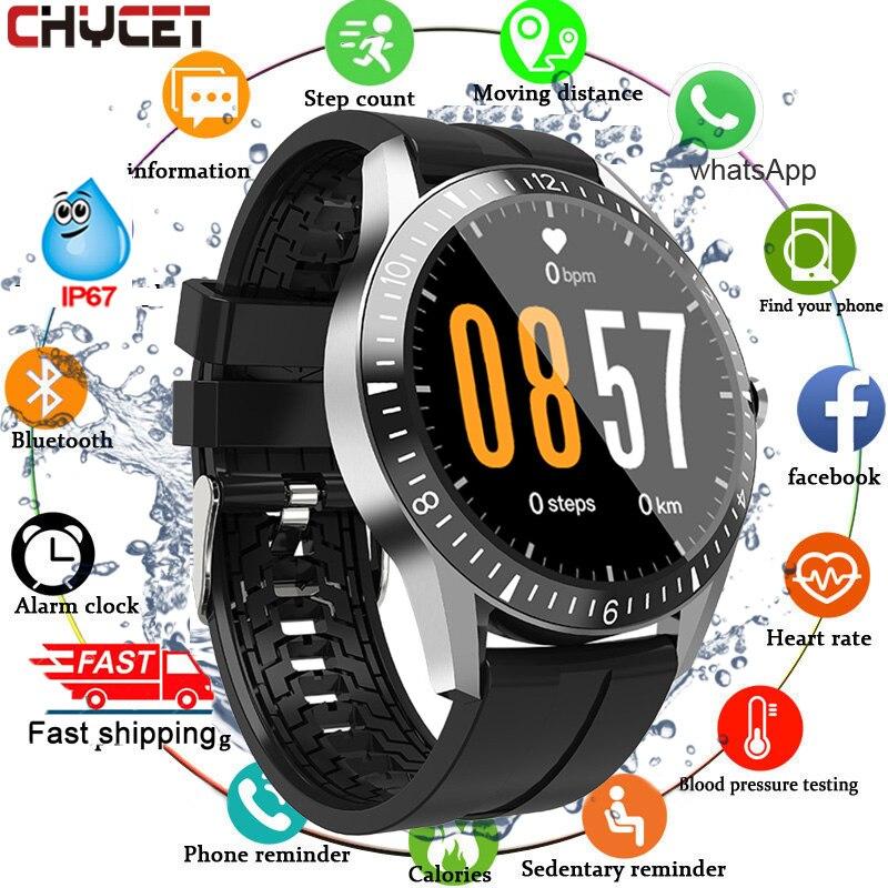 Chamada bluetooth relógio inteligente masculino feminino toque completo redondo smartwatch freqüência cardíaca de fitness rastreador esporte relógios para android ios 2020