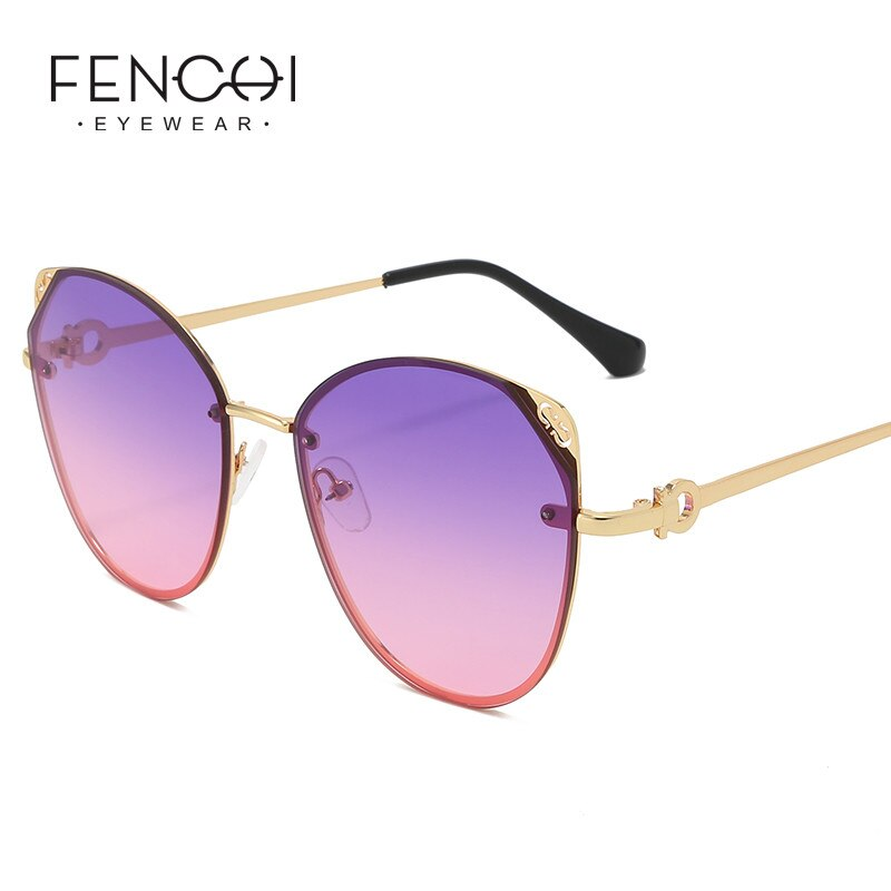 FENCHI gafas De Sol clásicas De ojo De gato para mujer 2020, gafas De Sol rosadas Retro, gafas clásicas coloridas De marca, gafas De Sol femeninas