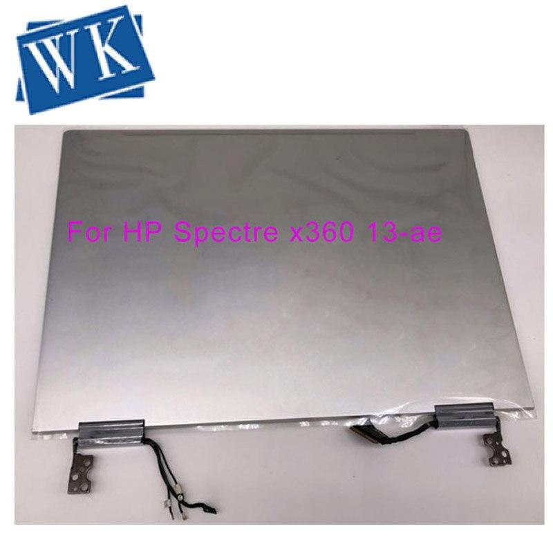 Original 3840*2160 para HP espectro x360 13-a055tu 13-AE015CA 13-AE series lcd pantalla táctil digitalizador montaje plata