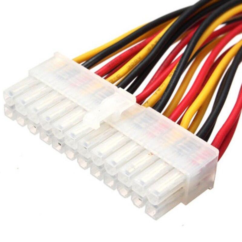 1 unidad ATX 24 Pin macho a 24 Pines de alimentación hembra Cable de extensión de suministro interno PC PSU TW Cable conector de Cable de alimentación 30CM