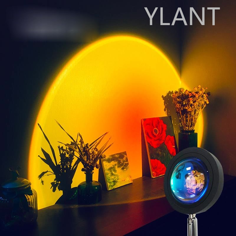 Sunset Projection Night Lights Live Broadcast Background Like Galaxy Projector Atmosphere Rainbow Lamp Decoration For Bedroom enlarge