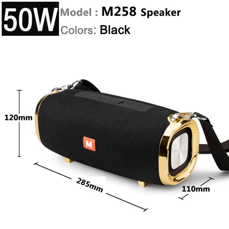 M258-مكبر صوت بلوتوث محمول لاسلكي عالي الطاقة 50 واط ، مضخم صوت ستيريو ، مركز موسيقى TWS ، يمكن أن يعمل لفترة طويلة ، سوم ، جديد