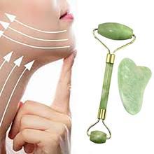 Rouleau de Jade naturel Guasha peau grattoir ensemble Facial pierre du visage raffermissant visage Anti-âge yeux gonflés masseur cou Anti-rides