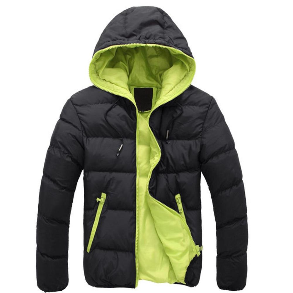 Chaqueta de manga larga de algodón informal para hombre... abrigos comfortable párr...