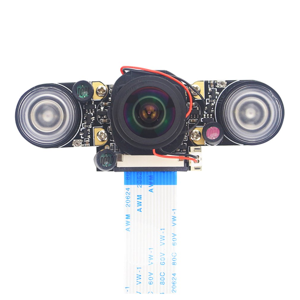 for raspberry pi camera module with automatic ir cut night vision camera 5mp 1080p hd webcam for raspberry pi 4b model 3 b For Raspberry Pi 4 Night Vision Camera Camera Module with Automatic IR-Cut  5MP HD Webcam for Raspberry Pi 4 Model B/3B+/3B/2B