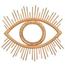 1 Pcs Innovative Rattan Crafts Eye Frame Creative Photo Wall Hanging Frame Decoration Home Living Room Decorative Supplies