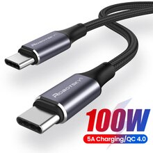 PD 100W USB C to USB Type C Cable For Xiaomi Redmi Note 8 Pro Quick Charge 4.0 Fast Charging For Mac