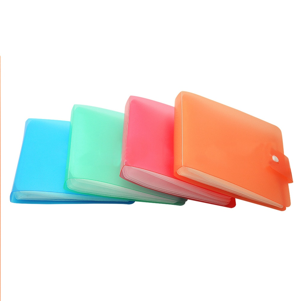 12 Sheets Carry Durable PP DVD Random Color Anti Scratch Protection Portable Buckle Closure Practical Storage Dustproof CD Case