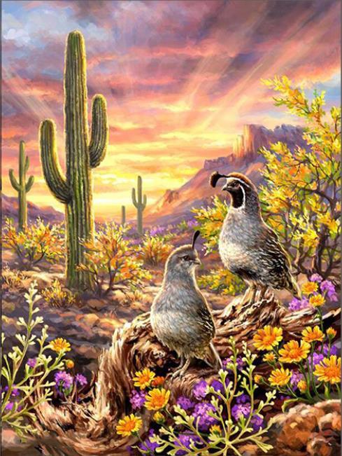 """5D DIY pintura de diamante de piedra cuadrada/redonda """"Cactus Animal"""" diamante bordado punto de cruz mosaico decoración de pared del hogar"""