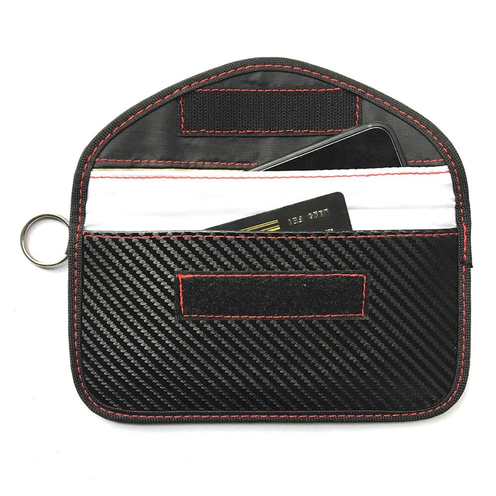 1XJamming bolsa Bolsa de bloqueo de señal bolso de Faraday escudo jaula bolsa de la carpeta del teléfono caso para teléfono celular de protección de la privacidad de control remoto de coche