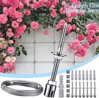 stainless steel climbing aid for climbing plants climbing net for gardens and greenhouses complete set with wall brackets steel