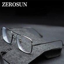 Evove-lunettes en titane hommes carré Nerd   Monture épaisse, lunettes myopie/diopter Anti bleu photochromique Progressive