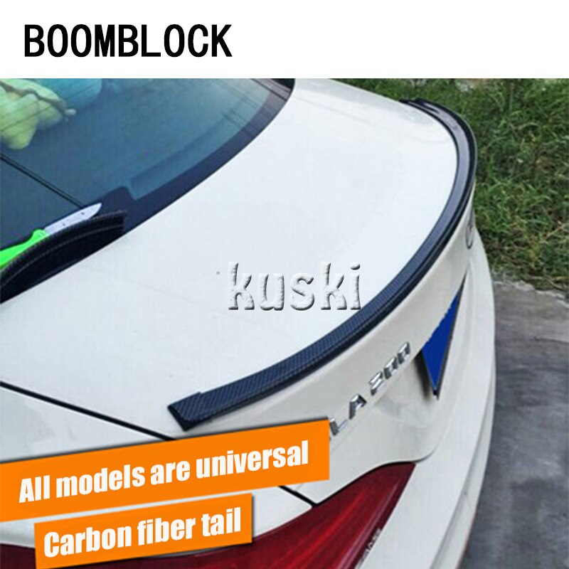 Boomblock 1 conjunto de fibra carbono do carro cauda asa 3 m adesivos para mercedes w204 w210 amg benz bmw e36 e90 e60 fiat 500 volvo s80