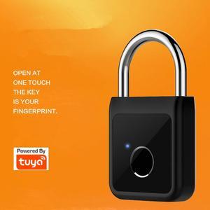 2021 New Fingerprint Padlock Lock Electronic Bluetooth Intelligent Waterproof Cabinet Lock Tuya/Smart Life App Alexa Google Home