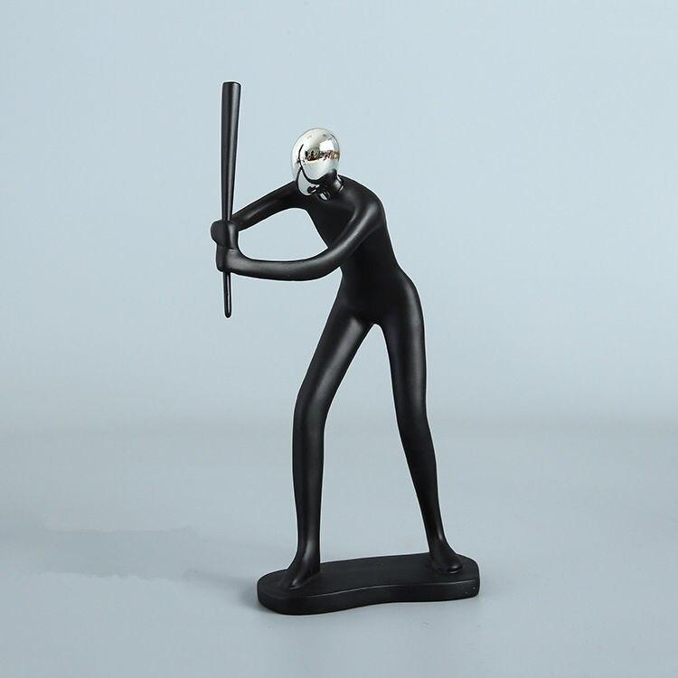 Современная абстрактная скульптура, спортивная бейсбольная форма, бейсбольная форма, статуя, художественная резьба, статуэтка из смолы, ук...