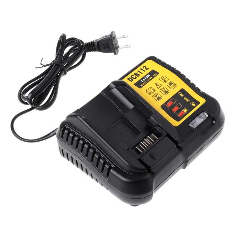 Dcb112 литий-ионный аккумулятор зарядное устройство для Dewalt 10,8 в 12 В 14,4 в 18 в Dcb101 Dcb200 Dcb140 Dcb105 Dcb200 Us Plug черный
