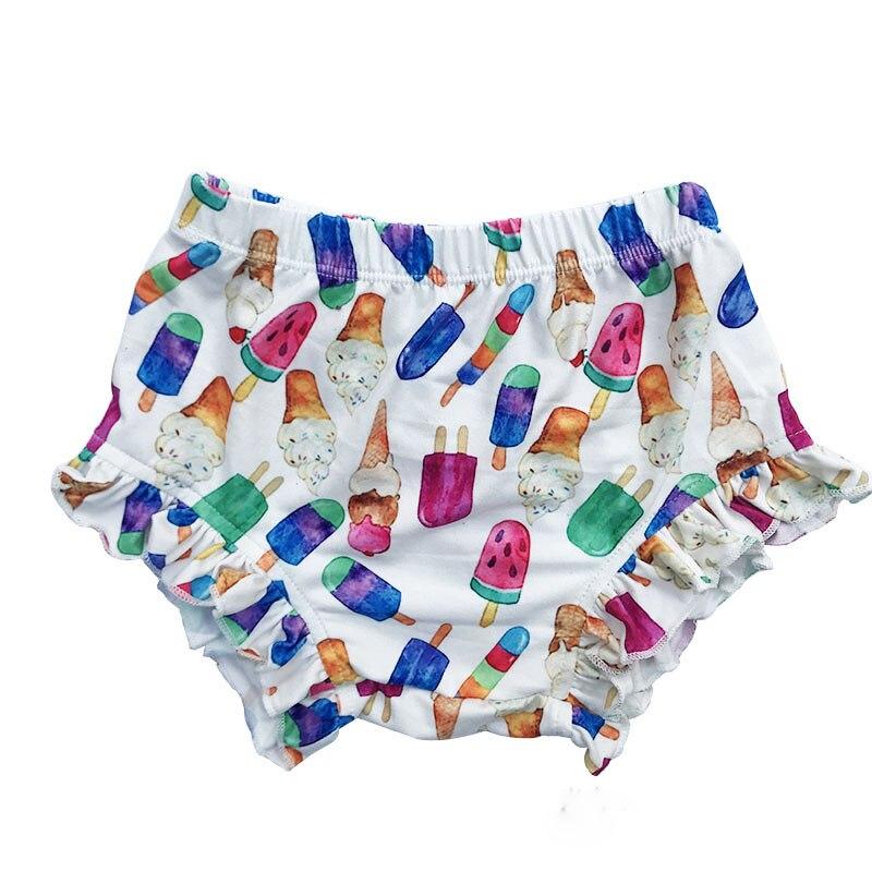 Детские хлопковые Шорты с кружевом Lucky Child Флора Детские Панталоны на подгузники для новорожденных с цветочным узором шорты, одежда для дево...