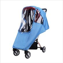Baby Stroller Rain Cover Universal Breathable Transparent Weatherproof Rainproof Windshield Stroller Cover