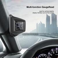 universal car a pillar hud projector head up display obd gps speed water temp warning ap 1 overspeed alarm lcd display
