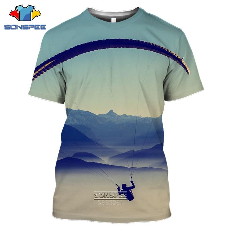 AliExpress - SONSPEE 2020 parachute men's T-shirt 3D printing Retro Skydiving T-shirt Parachuting Skydive Tee Tops Paragliding Homme Shirt