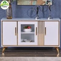 tieho luxury sideboard modern design kitchen storage cabinet gold stainless steel home hotel kitchen furniture black white