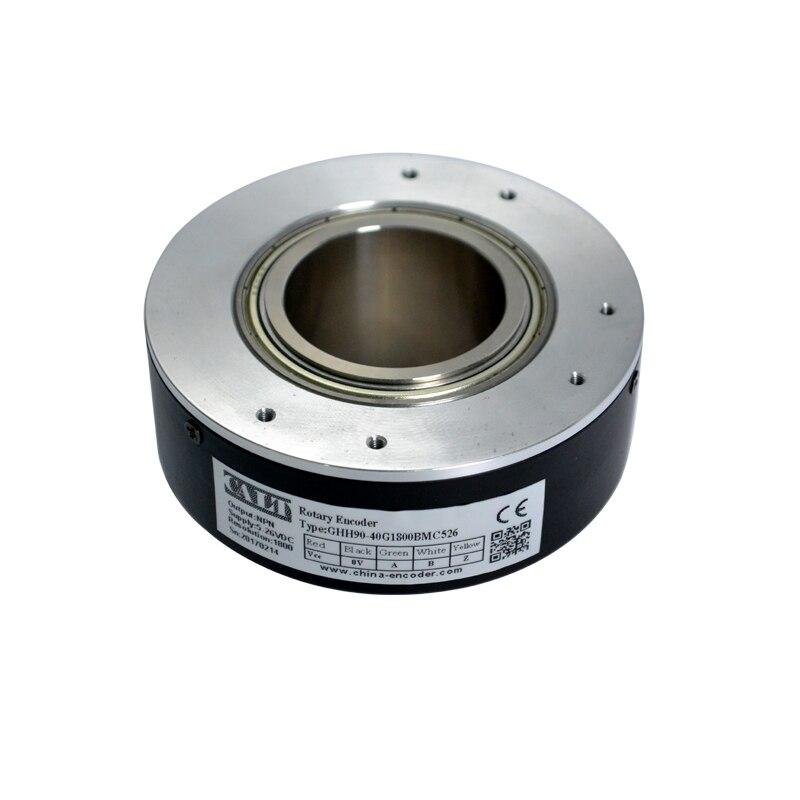 GHH90 90mm diámetro exterior PNP salida 30mm agujero hueco eje codificador elevador codificador 500,1000,1024,2000,2048, 2500, 5000ppr