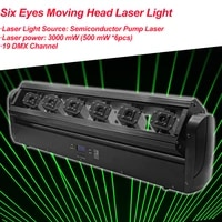 home party dj laser projector 6 eyes full color laser light dmx rgb stage effet lighting for music disco xmas wedding light