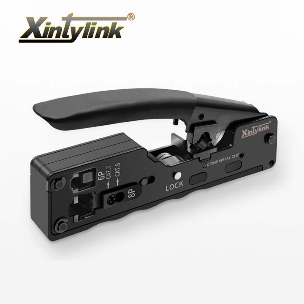 Xintylink-أداة تجعيد كابل إيثرنت ، كماشة تجعيد للموصل cat8 cat7 cat5 cat6