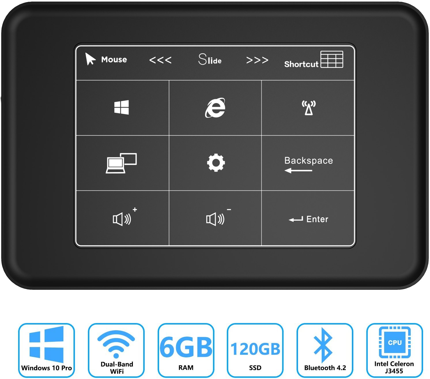 Barato mini pc windows 10 pro 6gb ram 512gb 1tb sata ssd celeron j3455 4k hd gráficos mini computador mini hdmi gigabit banda dupla