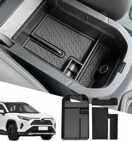 au04 car central armrest storage box secondary storage center console organizer compatible for toyota rav 4 2019 2020 2021