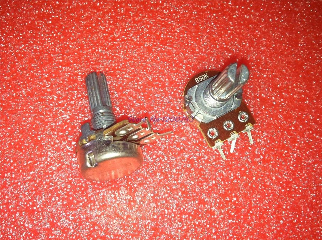 5pcs/lot WH148 15mm Dual Stereo Potentiometer B1K B2K B5K B10K B20K B50K B100K B500K 3Pin 1K 2K 5K 10K 50K 100K 500K In Stock