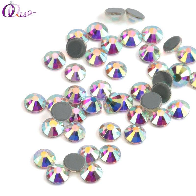 Diamantes de imitación QIAO de hierro sobre diamantes de imitación para ropa SS10 SS12 SS16 SS20 SS30