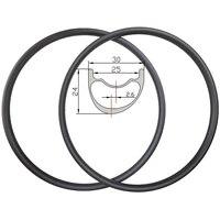 320g 29er marathon xc asymmetric 30mm width 24mm depth hookless mtb carbon rims 25mm inner width tubeless mountain bike wheels